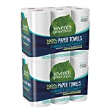 Seventh Generation Paper Towels, 100% Recycled Paper, 2-ply, 6 Roll, 2 Pack (12 Rolls)