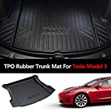 Trunk Mat TPO Waterproof Wear-Resistant Trunk Floor Mat Protector All Weather Cargo Mat for Tesla Model 3