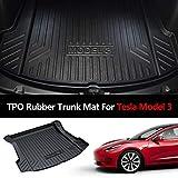 Mixsuper Rear Cargo Liner Durable Odorless Trunk Floor Mat for Tesla Model 3