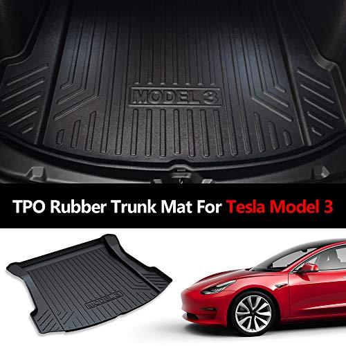 Cargo Mat Model - Mixsuper Rear Cargo Liner Durable Odorless Trunk Floor Mat for Tesla Model 3