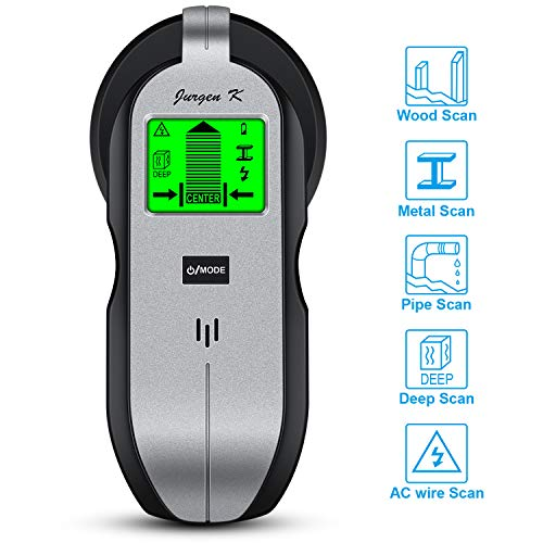 (Stud Finder Wall Scanner, JURGEN K Multifunction Wall Detector with Upgrade Sensor, Digital LCD Display & Sound Warning for Center and Edge of Metal, Studs, Joists, Pipes, Live AC Wire Detection)