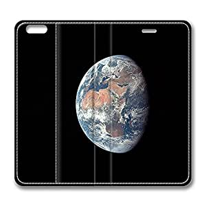 iPhone 6 Leather Case, Personalized Protective Flip Case Cover Earth Apollo for New iPhone 6