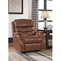 Ashley Furniture Signature Design - Metcalf Recliner Chair - Power Reclining - Contemporary Style - Nutmeg