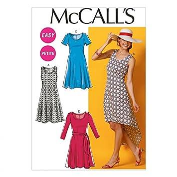 McCall \'s Damen Easy Schnittmuster 6957 Einfache Jersey Kleider und ...
