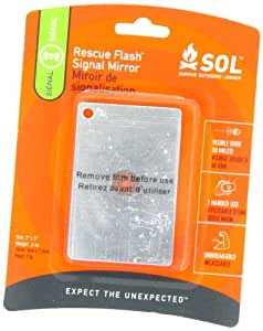 S.O.L. Survive Outdoors Longer Rescue Flash Mirror