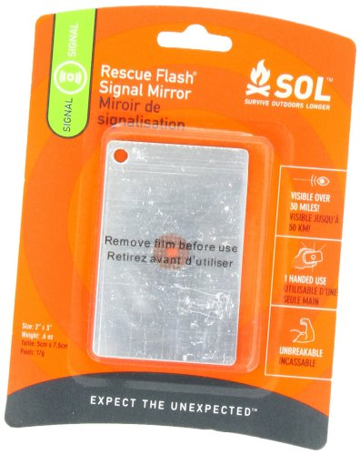 S.O.L. Survive Outdoors Longer Rescue Flash Mirror ()