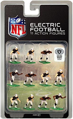 Oakland Raiders Dark Uniform NFL Action Figure Set