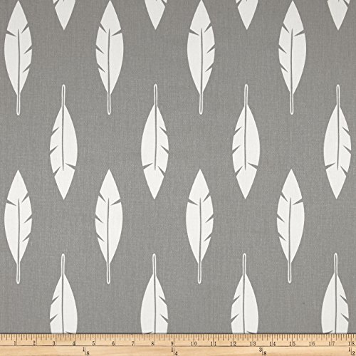 Premier Prints Feather Silhouette Twill, Storm, Fabric by The Yard