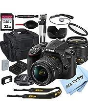 $549 » Nikon D3400 DSLR Camera with 18-55mm VR Lens + 32GB Card, Tripod, Case, and More (18pc Bundle)