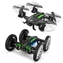 WONDAY Remote Control Flying Car and Drone 3D Flip with VIDEO WIFI HD Camera 2.4GHz RC Quadcopter Headless Mode