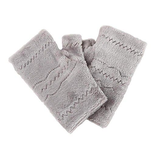 Winter Autumn Thick Warm Gloves Keyboard Leak Finger Gloves Gray - 8
