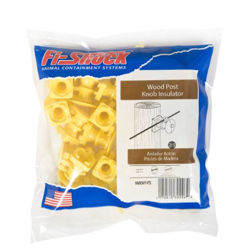- Fi-Shock IWKNY-FS Yellow Economy Insulator with Single head Nail