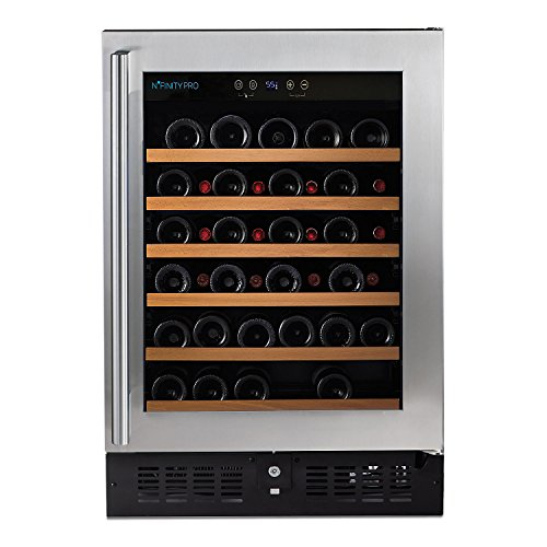 (DR) N'FINITY PRO S RED 46-Bottles Wine Cellar, Wine Cooler w/ Steel Door (S1011) (34 Bottle Wine Cellar)