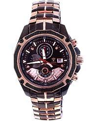 Aqua Master Men's Sensation Series Dual Color Black/Rose-PVD Stainless Steel Watch W#336ND