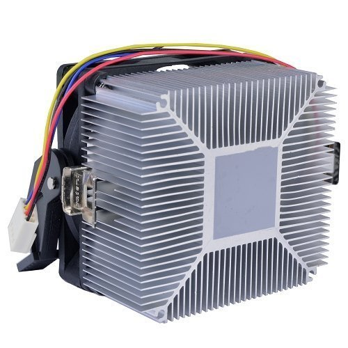 AMD Socket AM3 / AM2 / 1207/940 / 939/754 4-Pin Connector CPU Cooler Aluminum Heatsink & 2.75-inch Fan Pre-Applied Thermal Paste Desktop PC Computer (TS9) by TronStore (Image #1)
