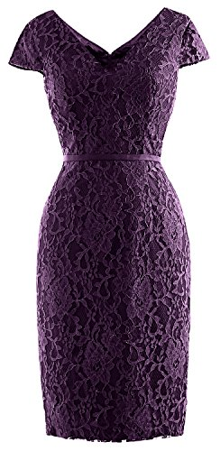 of Women Vintage Eggplant Cap Short MACloth Bride Dress Sleeve Lace Mother Party Wedding gqZ0qwxd
