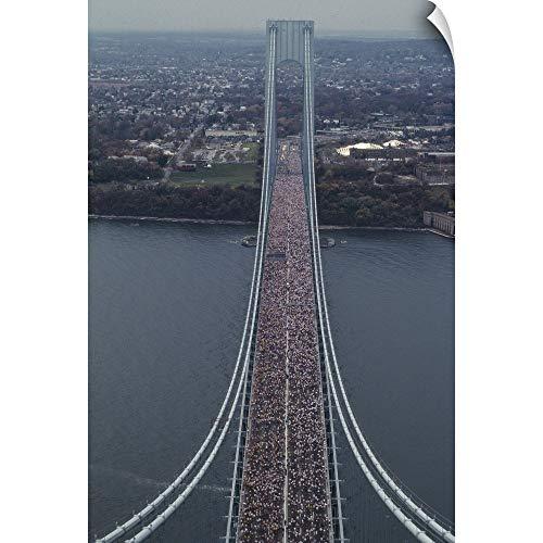 Running on The Verrazano Bridge competing in The 1994 NYC Marathon Wall Peel Art Print, 20