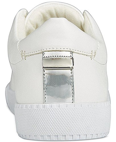 Bar III Womens Hint Low Top Slip On Fashion Sneakers, White, Size 6.0 US/4 UK US