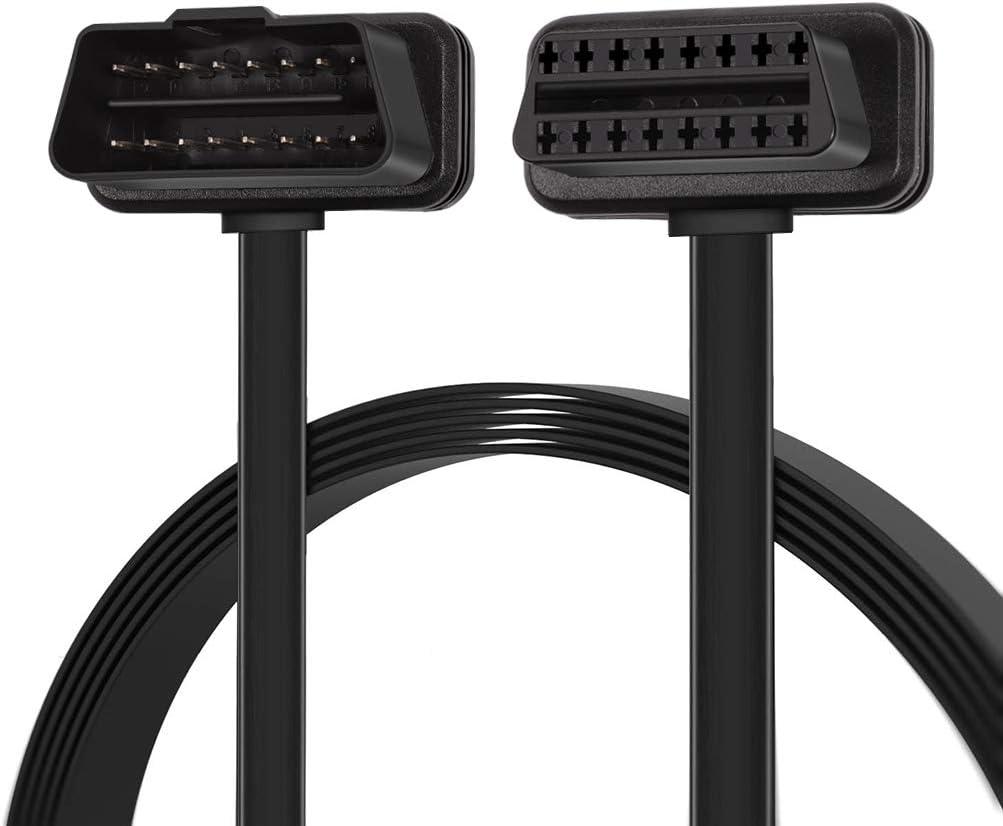 Cable de extensi/ón de 30/cm//12/Thin OBDII OBD2/Auto herramienta de extensor de diagn/óstico de macho a hembra de coche