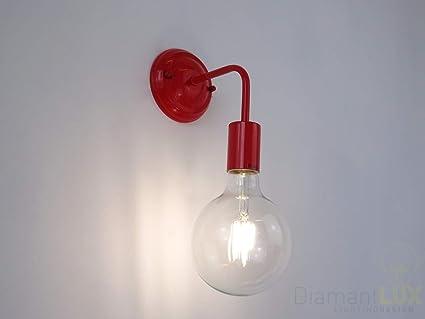 A1 Applique Rouge Lampe Murale Moderne Rd À Alba Métal Led kXPwZiuOT