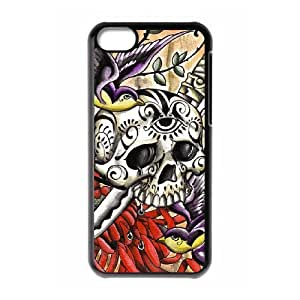 Protection Cover Hard Case Of Artistic Skull Cell phone Case For Iphone 5C