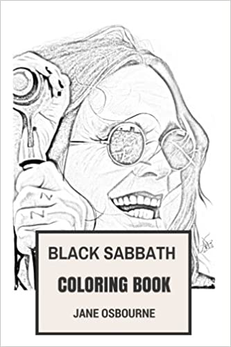 black sabbath coloring book macabre and horror metal godfathers and gothic dark inspired adult coloring book coloring book for adults jane osbourne - Gothic Coloring Book