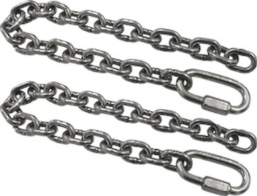 SeaSense Stainless Steel Safety Chain 5/16-Inch x 24-Inch with Quick Link, 2 Piece
