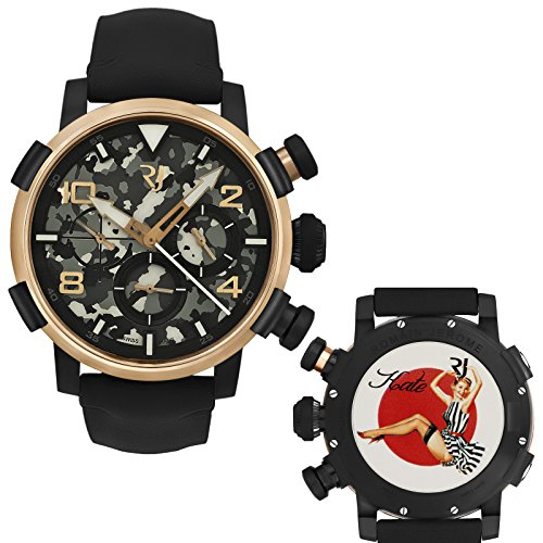 Romain-Jerome-Pinup-DNA-Red-Gold-WWII-Kate-Stripes-Chrono-Auto-RJPCH00301