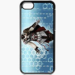 Personalized iPhone 5C Cell phone Case/Cover Skin Assassin Ezio Auditor Blades Black