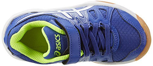 Asics Pre-Upcourt Ps, Zapatillas Deportivas para Interior Unisex Niños Azul (Asics Blue/white/safety Yellow)
