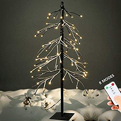 YUNLIGHTS Lighted Star Tree Topper, Christmas Tree Toppers with Clip for Indoor Christmas Ornaments Party Home Decoration, Warm White