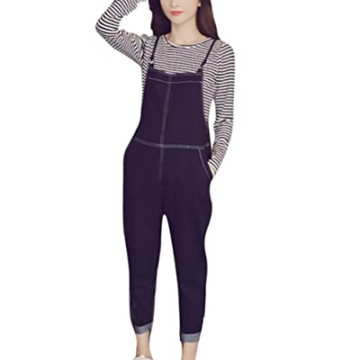 Babao Mujer Jeans Jumpsuit Pantalones Largos Overoles: Ropa y accesorios