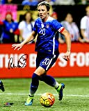 Abby Wambach Signed USA Soccer Dribbling Ball Action 8x10 Photo
