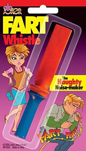 "Price comparison product image Joker Fart Whistle Naughty Noise Maker 4.5"" Prank Toy, Blue Pink"