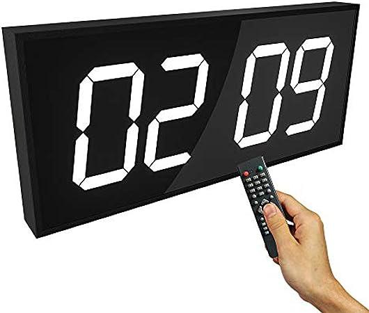 OMLTER Reloj De Doble Cara Multifunción Control Remoto Reloj De Pared LED Digital Calendario Grande Minuto Reloj Despertador Cuenta Regresiva Reloj LED Termómetro Grande,White: Amazon.es: Hogar