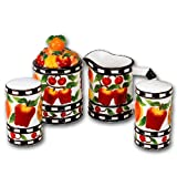 Ceramic Mix Fruit Table Top Sugar Creamer Salt Pepper Set