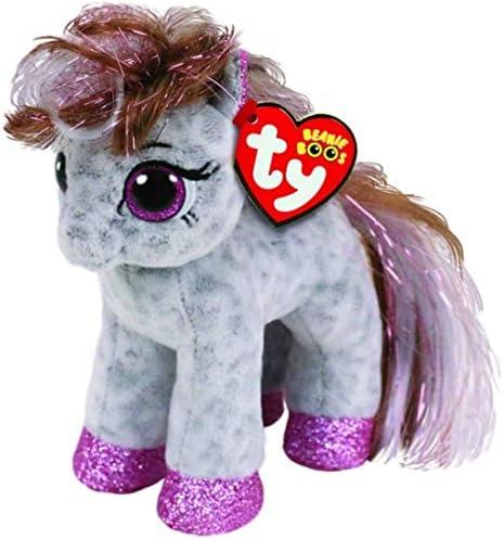 "Set of 4 Ty Beanie Boos 6/"" Starr Ruby Cinnamon Topaz Horse Pony Plush Heart Tags"