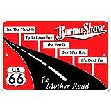Burma Shave Tin Sign 12 x 8in