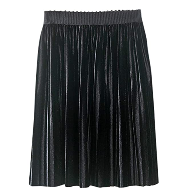 Fashion Todder Kids Baby Girls Solid Pleuche Knitted Pleated Skirt Party Skirt