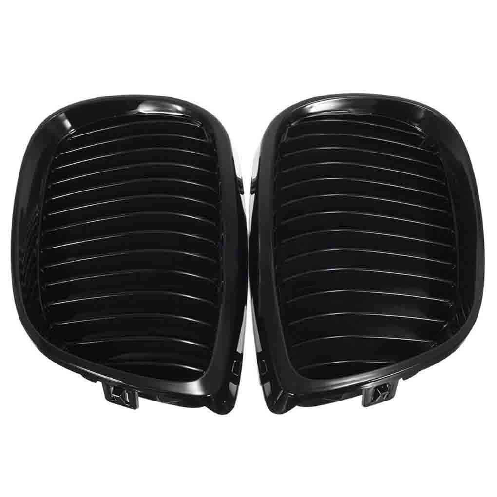 Lorsoul ABS Voiture en Plastique Noir Brillant Avant Grillages Reins Avant pour BMW 3 Grilles S/érie E92 E93 2 Portes 2006-2009