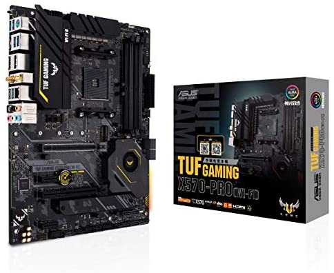 ASUS TUF Gaming X570-PRO (WiFi 6) AM4 Zen 3 Ryzen 5000 & third Gen Ryzen ATX Motherboard (PCIe 4.0, 2.5Gb LAN, BIOS Flashback, HDMI 2.1, USB 3.2 Gen 2, Addressable Gen 2 RGB Header and Aura Sync)