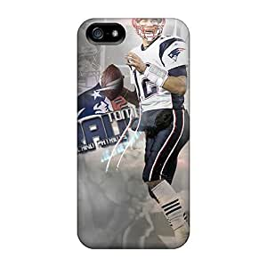 New TFj665IOGH New England Patriots Skin Case Cover Shatterproof Case For Iphone 5/5s