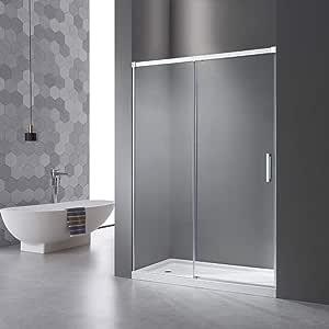 Mampara de ducha con sistema de apertura de puerta, sin perfil de ...