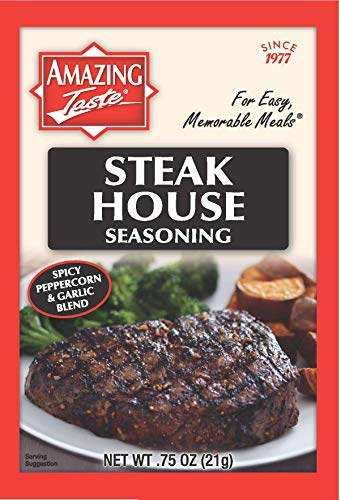 - Amazing Taste Steakhouse Seasoning Bundle (10 Packets- .75 oz ea.)