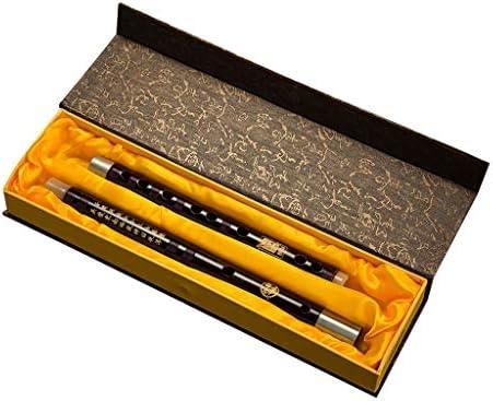 楽器 Dizi中国ミニフルート14インチレッドウッドピッコロプラガブル伝統的な楽器絶妙なピッコロ人気のギフトフルート36センチ 木管楽器 (Color : A Minor46cm)