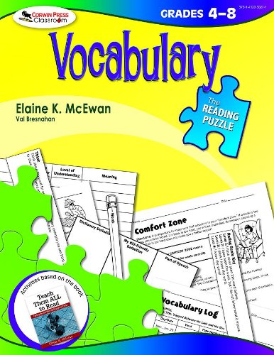 The Reading Puzzle: Vocabulary, Grades (Halloween Language Arts Activities Grade 1)