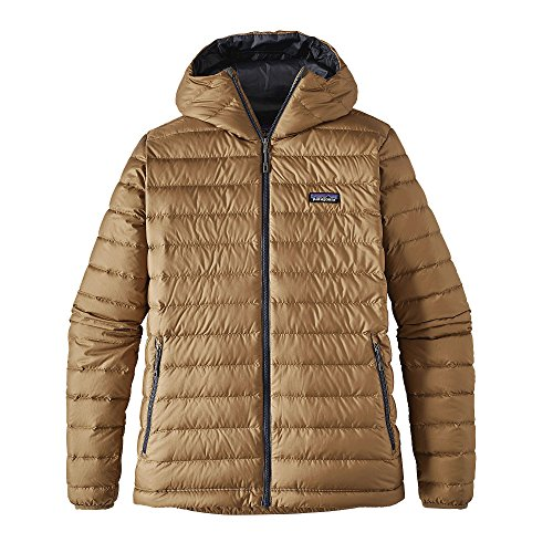 Patagonia Down Sweater Jacket (Patagonia Mens Down Sweater Hoody, Mojave Khaki, Medium)