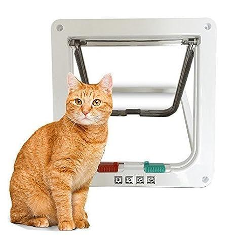 Yosoo chatière puerta inteligente Smart 3 tamaños accesorios para gato gatito perro 4 posiciones instalación fácil con tornillo: Amazon.es: Productos para ...
