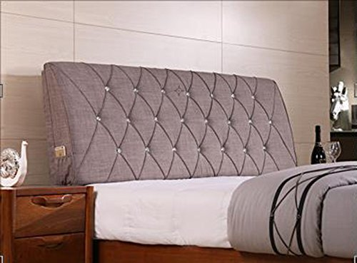 AIDELAI Backrest- Bed Backrest Cushions Upholstered Leather Upholstered Cushions Shall Cover Removable and Washable Cloth Bed (Color : C, Size : M)