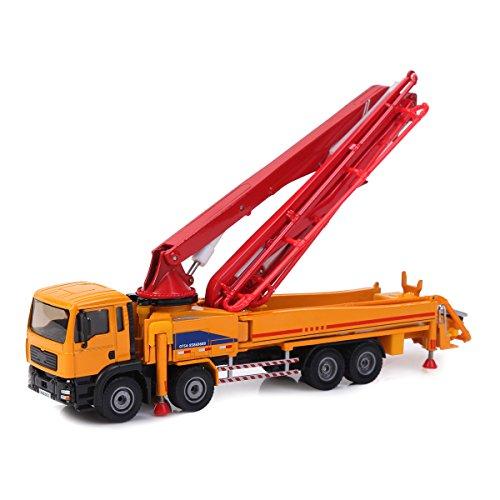 Damara Boy's 1:55 Concrete-pump Car Alloy Diecast Model Toys,Orange (Pump Truck Cement)